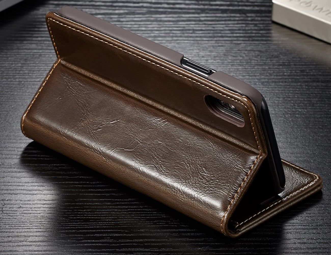 leather iphone case flip iphone x leather wallet 187 gadget flow 12563