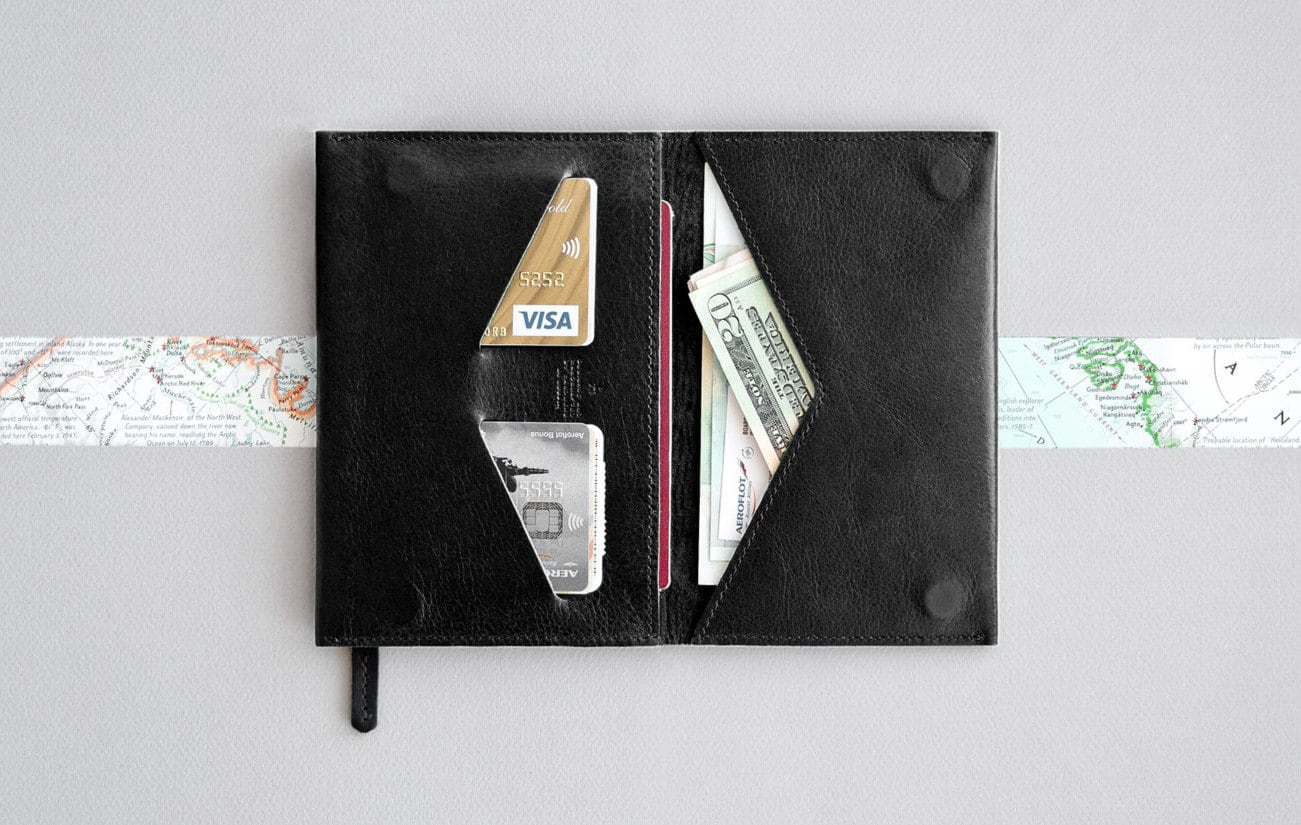 RAMPART Leather Passport Travel Wallet