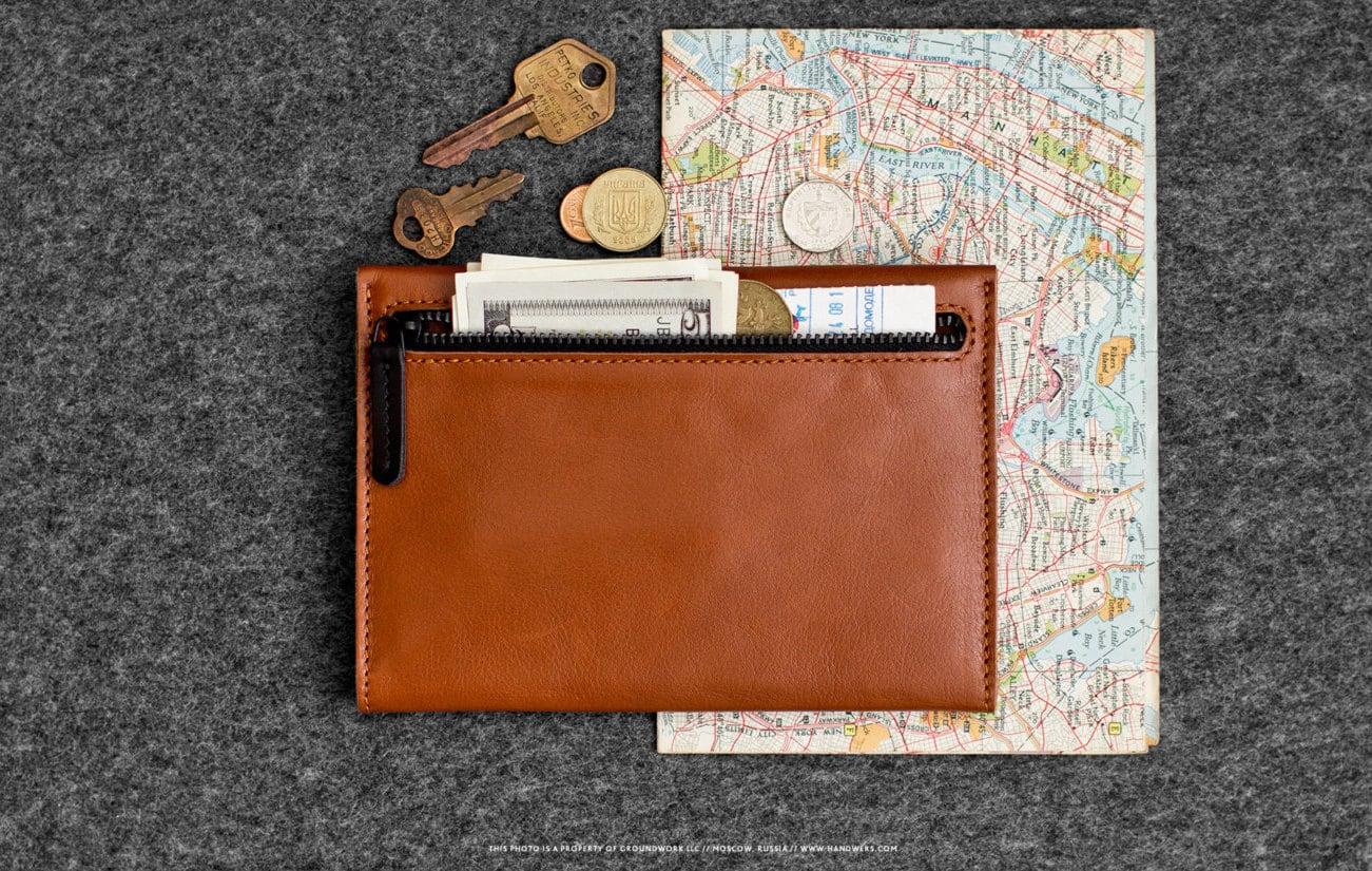 RAMPART Leather Passport Travel Wallet