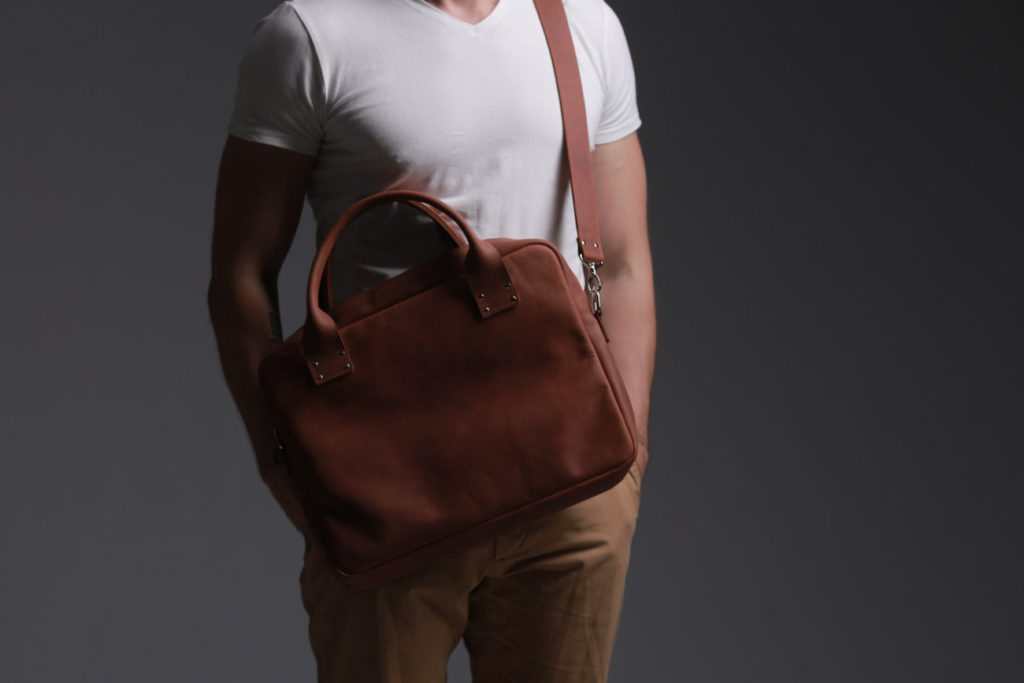 Handmade+Leather+Messenger+Bag