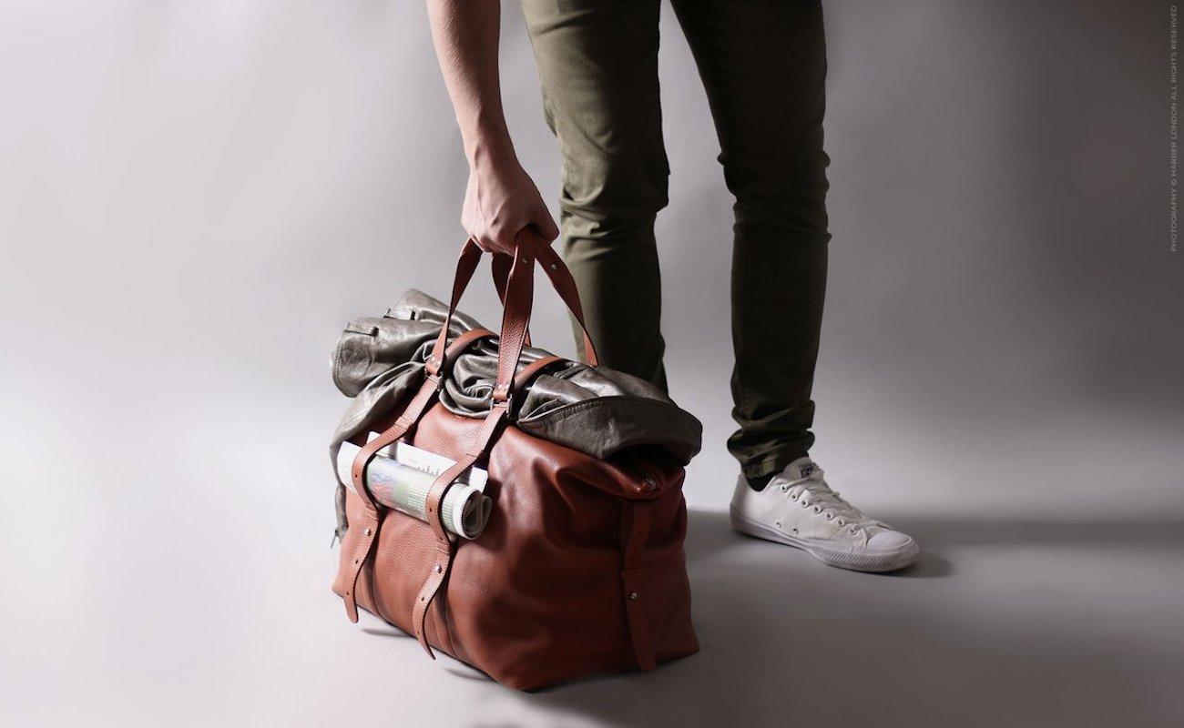 Harber London Classic Leather Shopper Bag