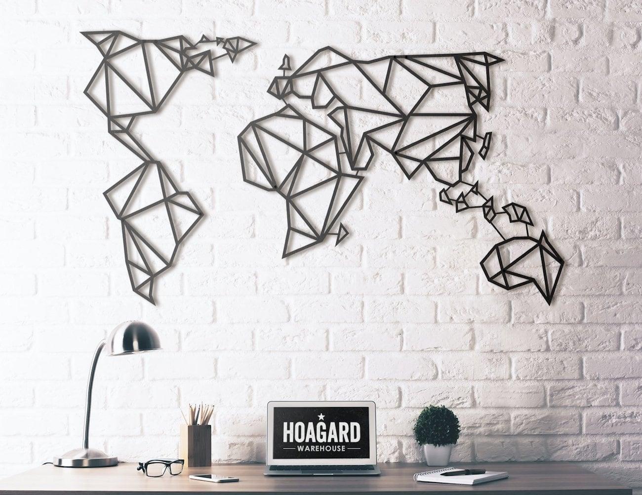 Hoagard Metal World Map