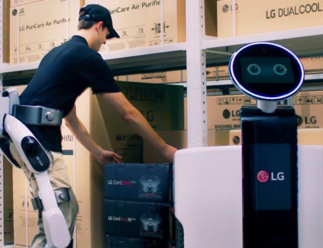 LG CLOi Intelligent Work Robots