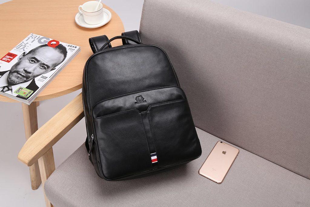 Luxury+Genuine+Leather+Travel+Backpack