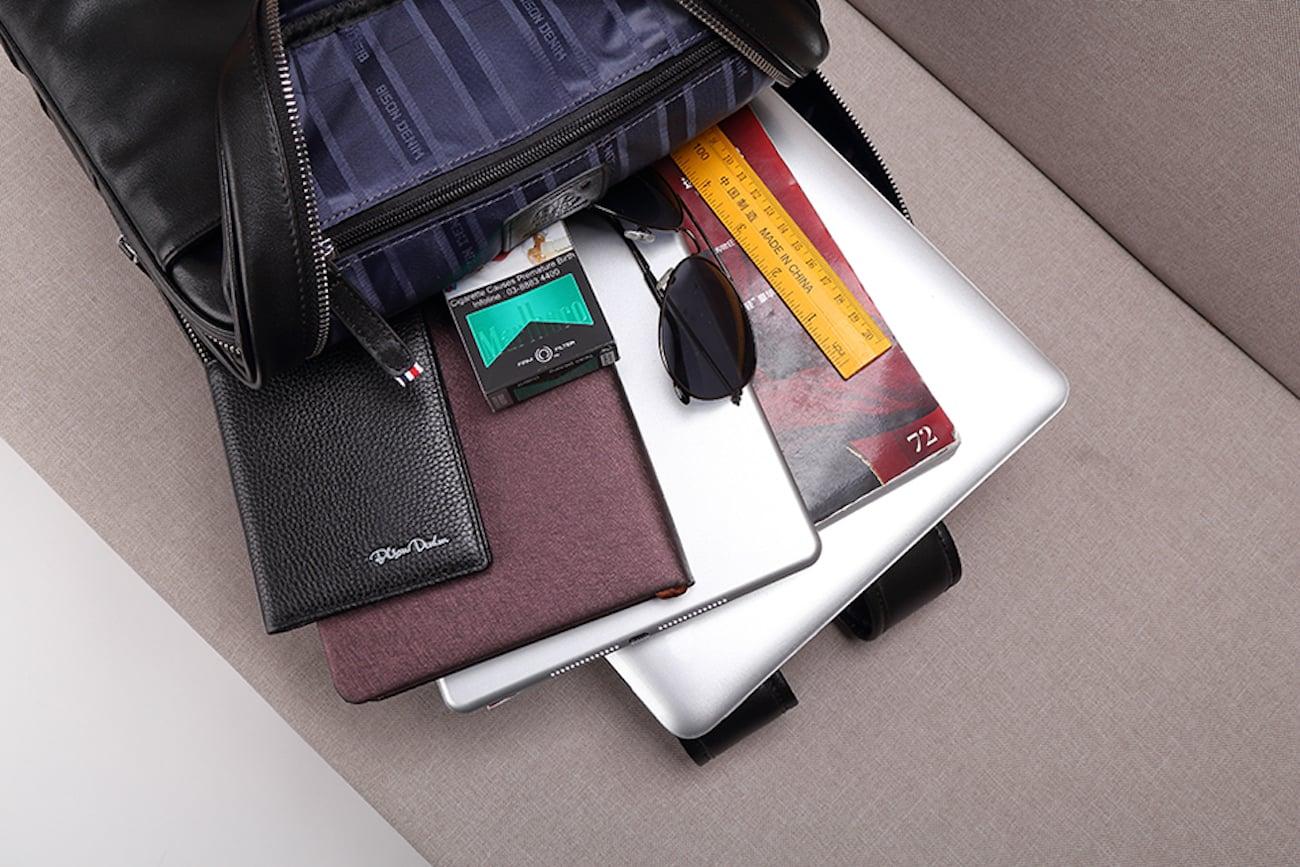 Luxury Genuine Leather Travel Backpack