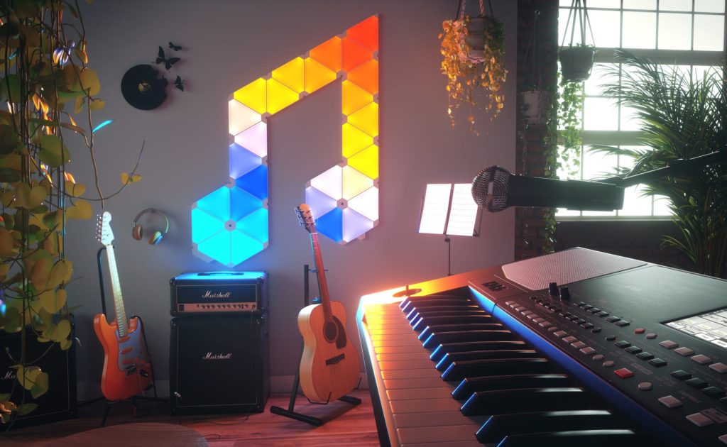 Nanoleaf+Light+Panels+Modular+Smart+Lighting+Triangles+let+you+alter+the+atmosphere+with+color