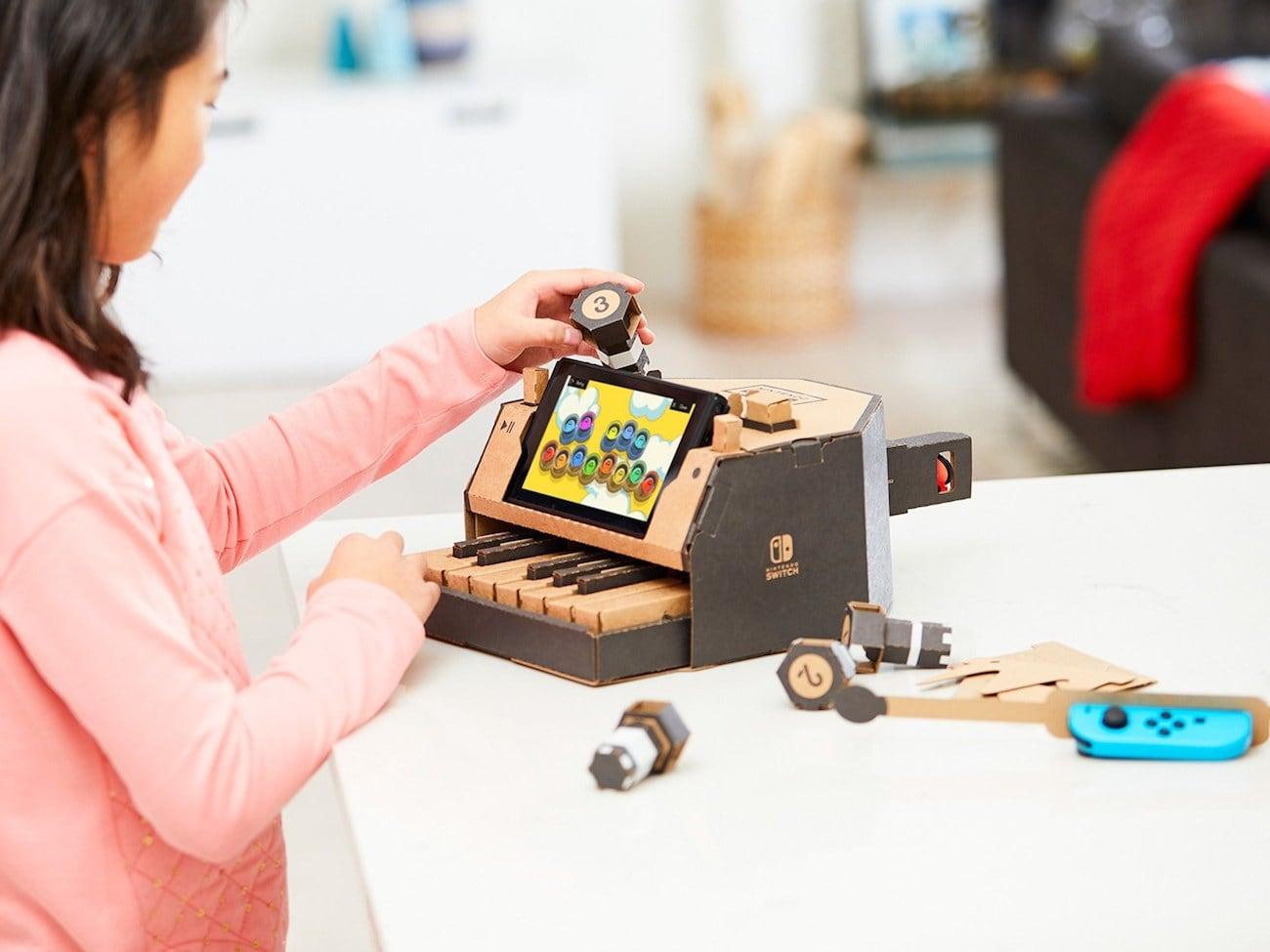 Switch It Up Toys : Nintendo labo diy cardboard accessories gadget flow