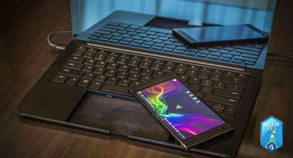 Razer Project Linda Phone Powered Laptop CES 2018