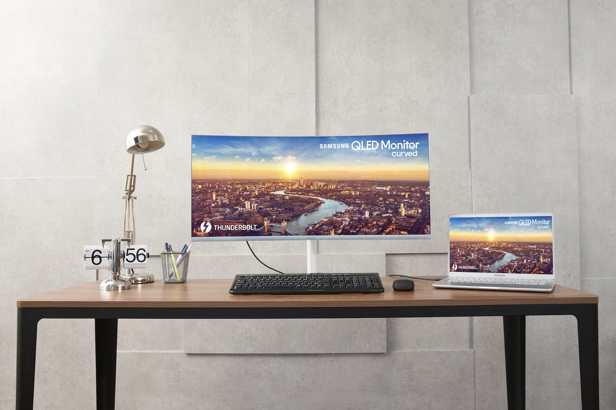 Samsung+Thunderbolt+3+QLED+Curved+Monitor