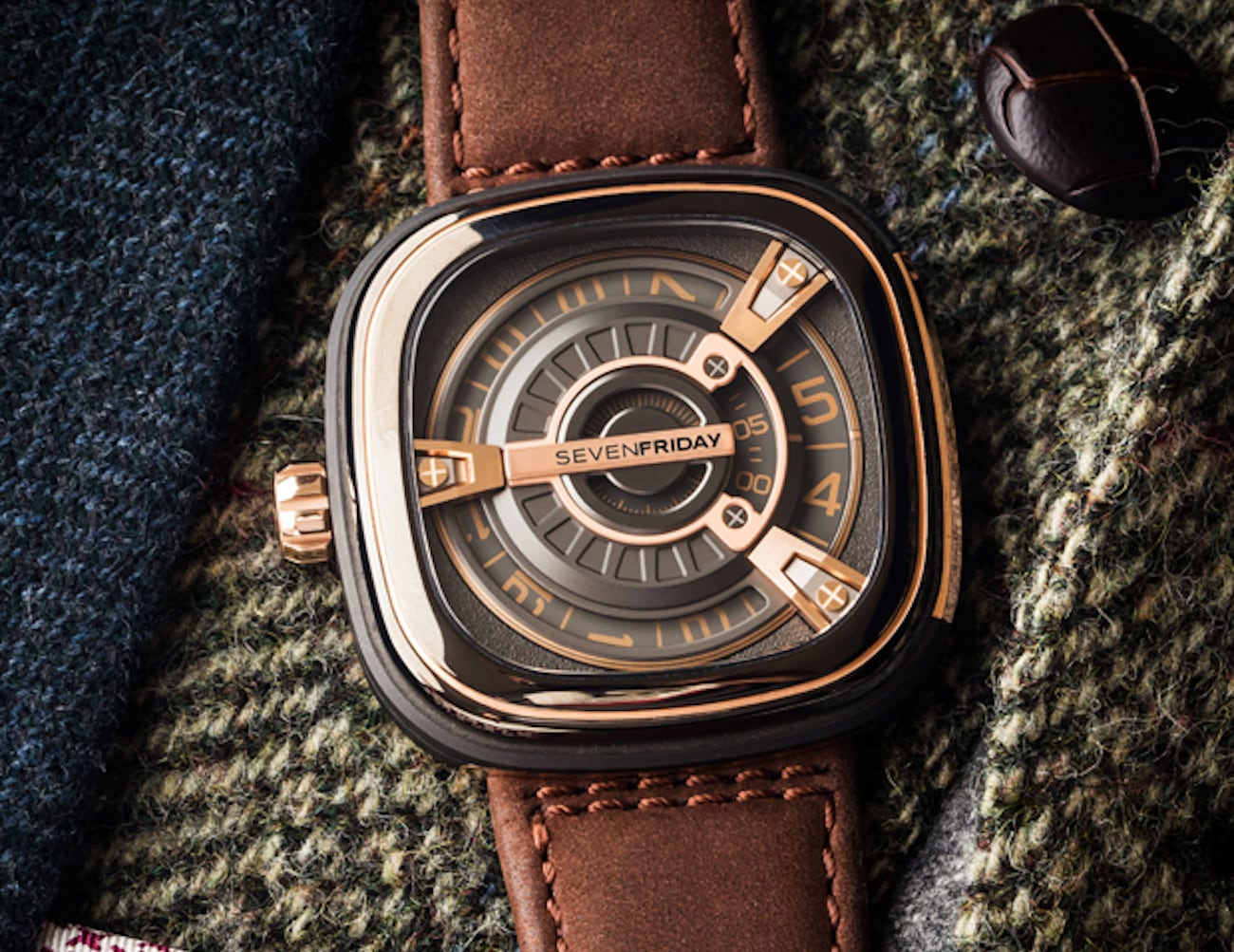 Sevenfriday M2-02 Layered Rose Gold Watch