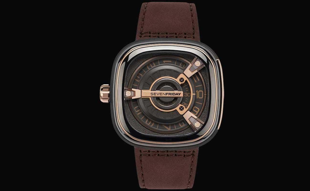 Sevenfriday M2-02 Layered Rose Gold Watch