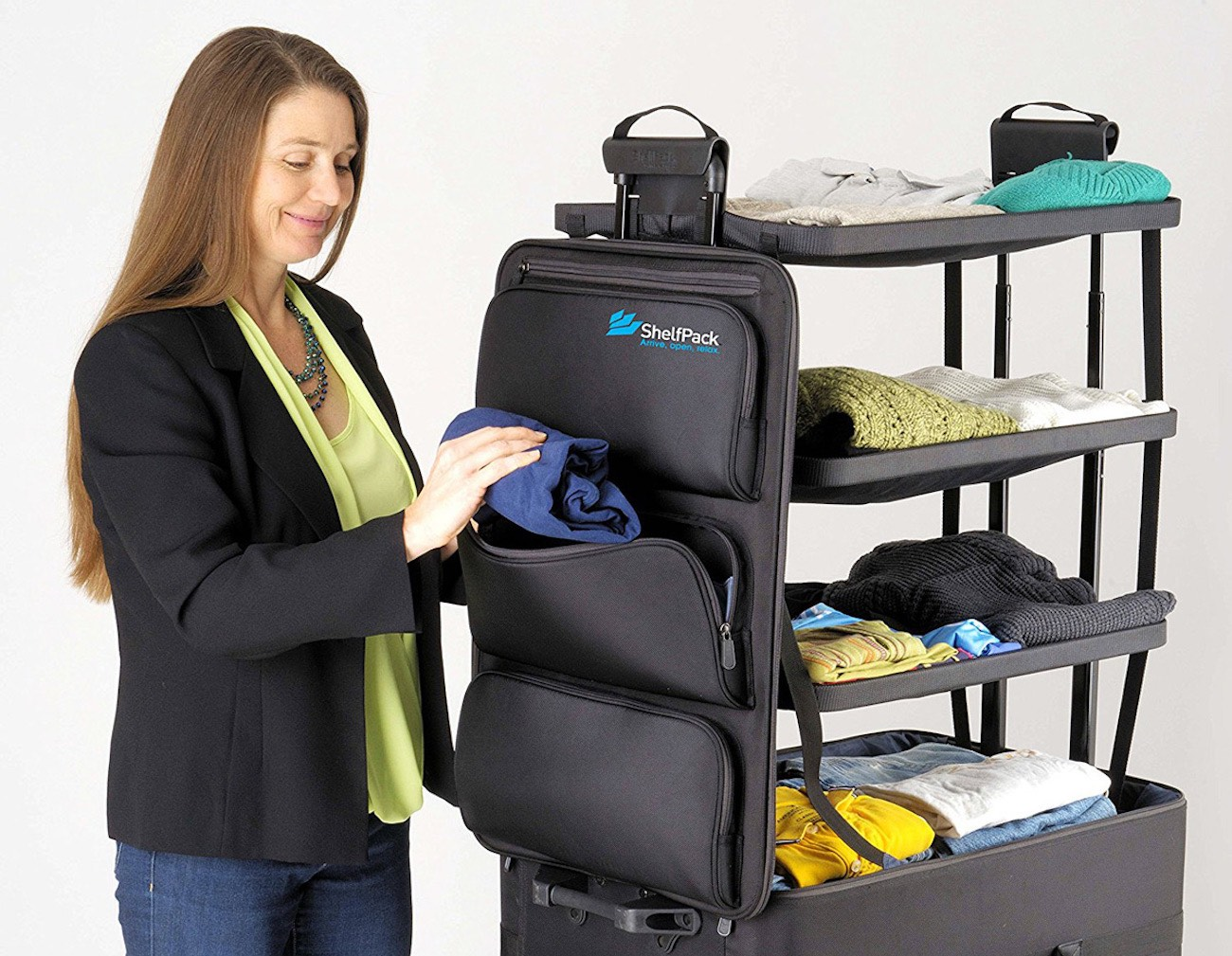 ShelfPack Built-In Shelves Suitcase