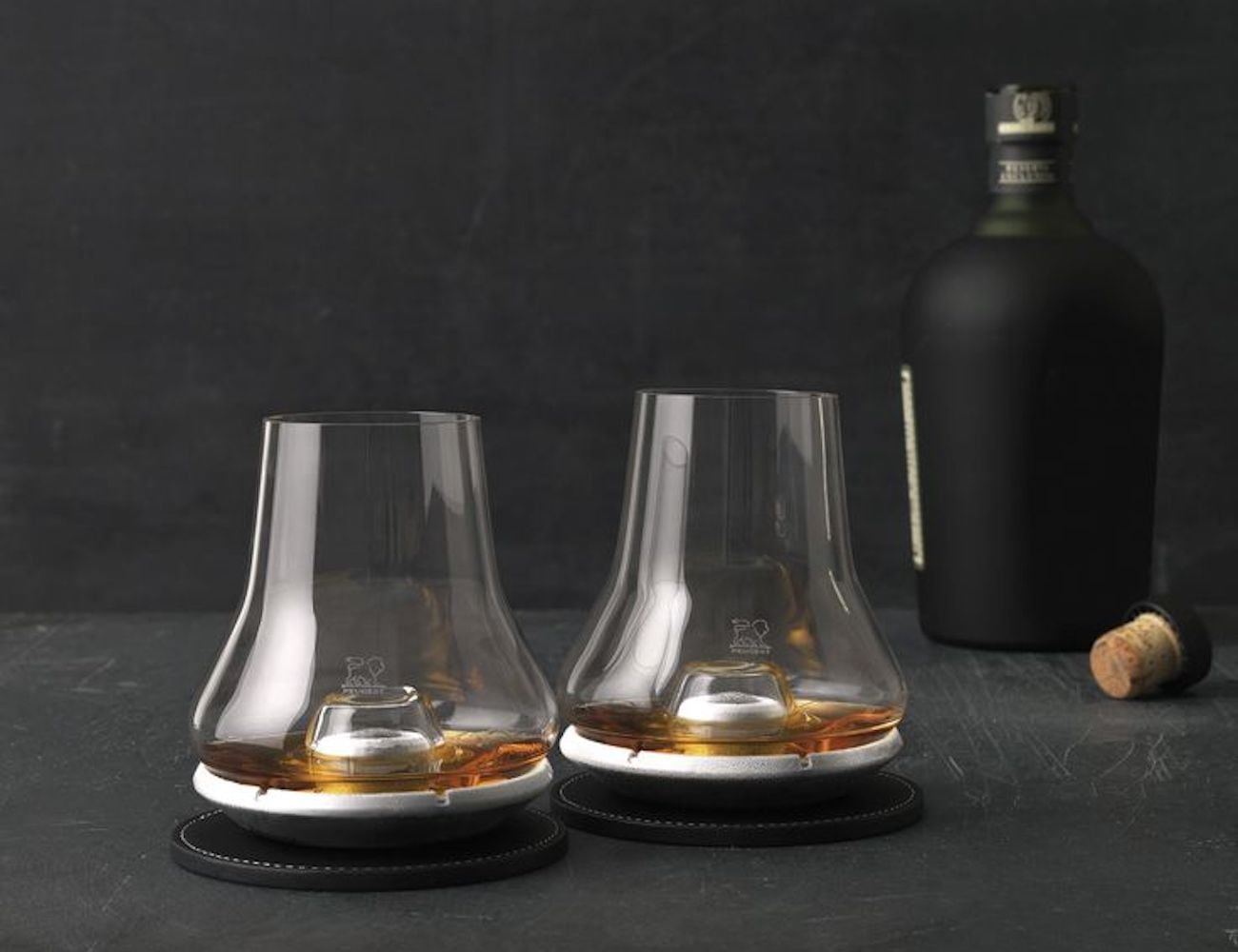 Whiskey Tasting Glass and Chilling Coaster