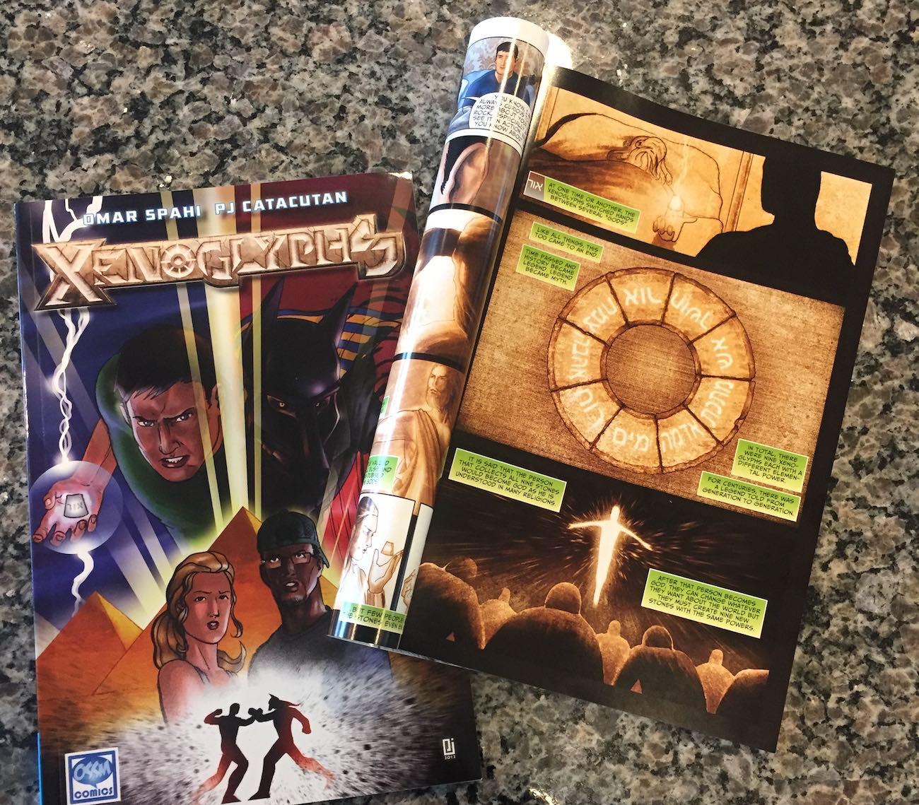 Xenoglyphs Comic Book Series