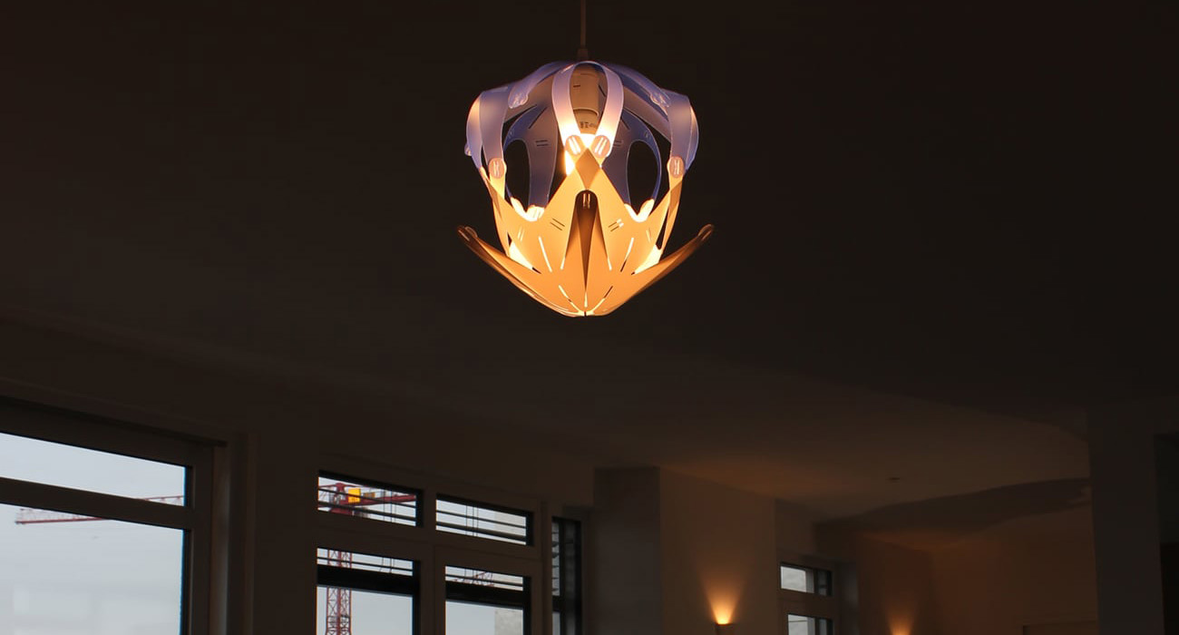 The Beautiful Button Loop Lampshade Can Change Shape In A