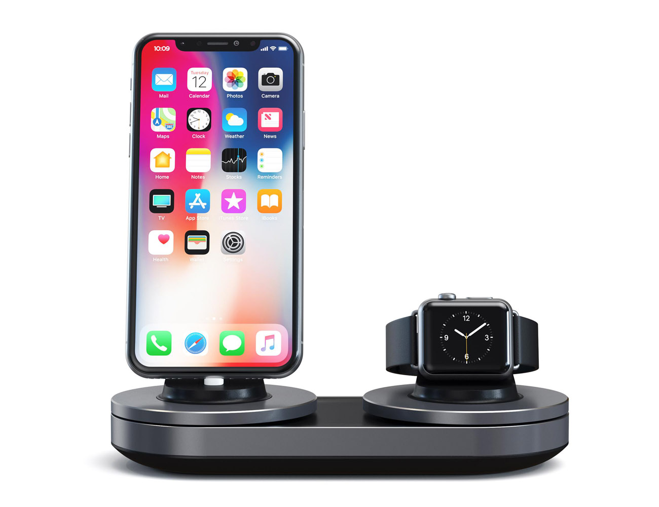 Smart Dual Charging Station for Apple Watch and iPhone