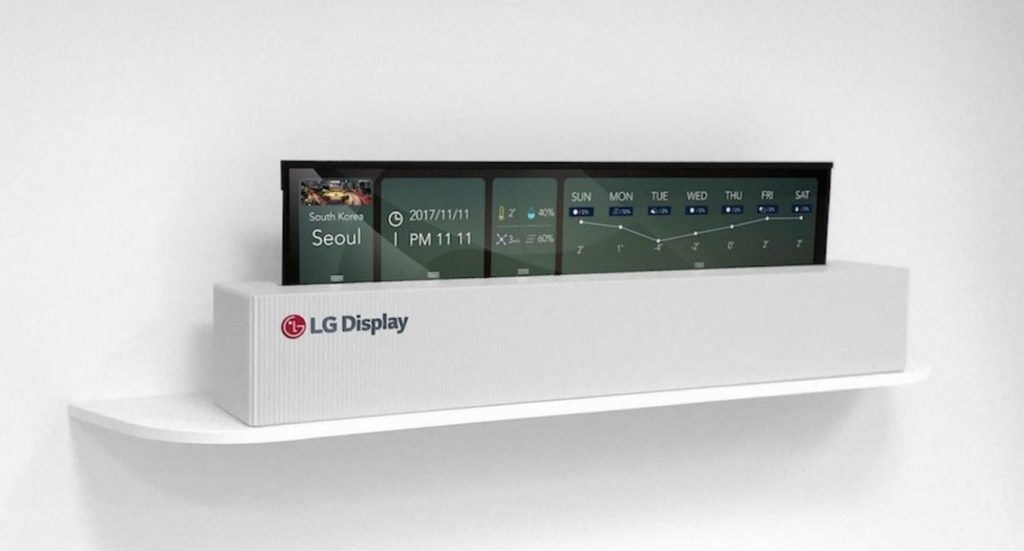 LG rollable TV display