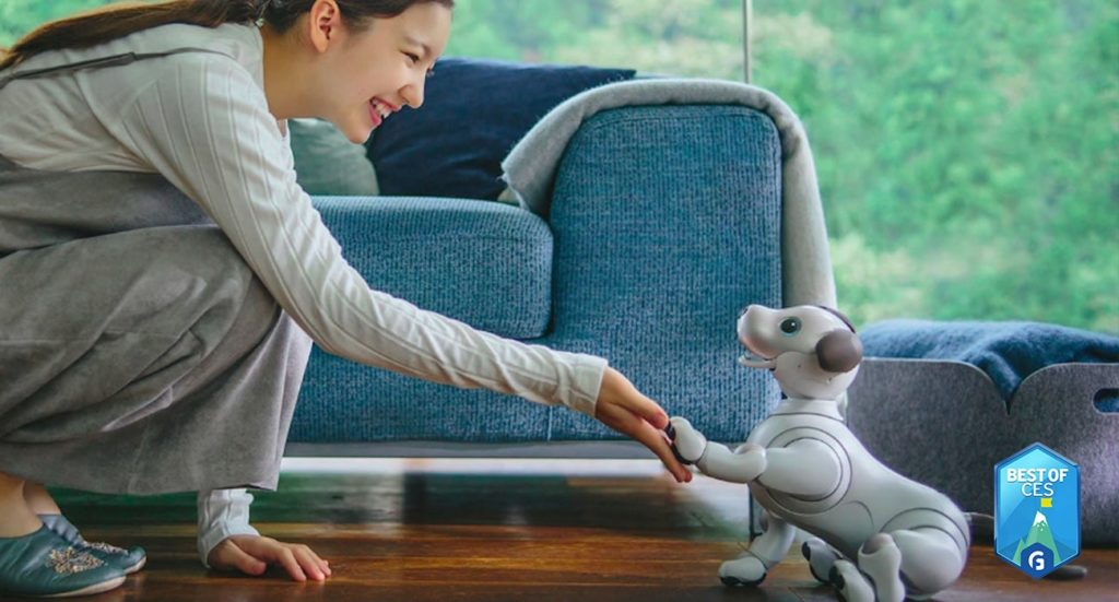 Sony aibo Intelligent Dog Robot Pet CES 2018