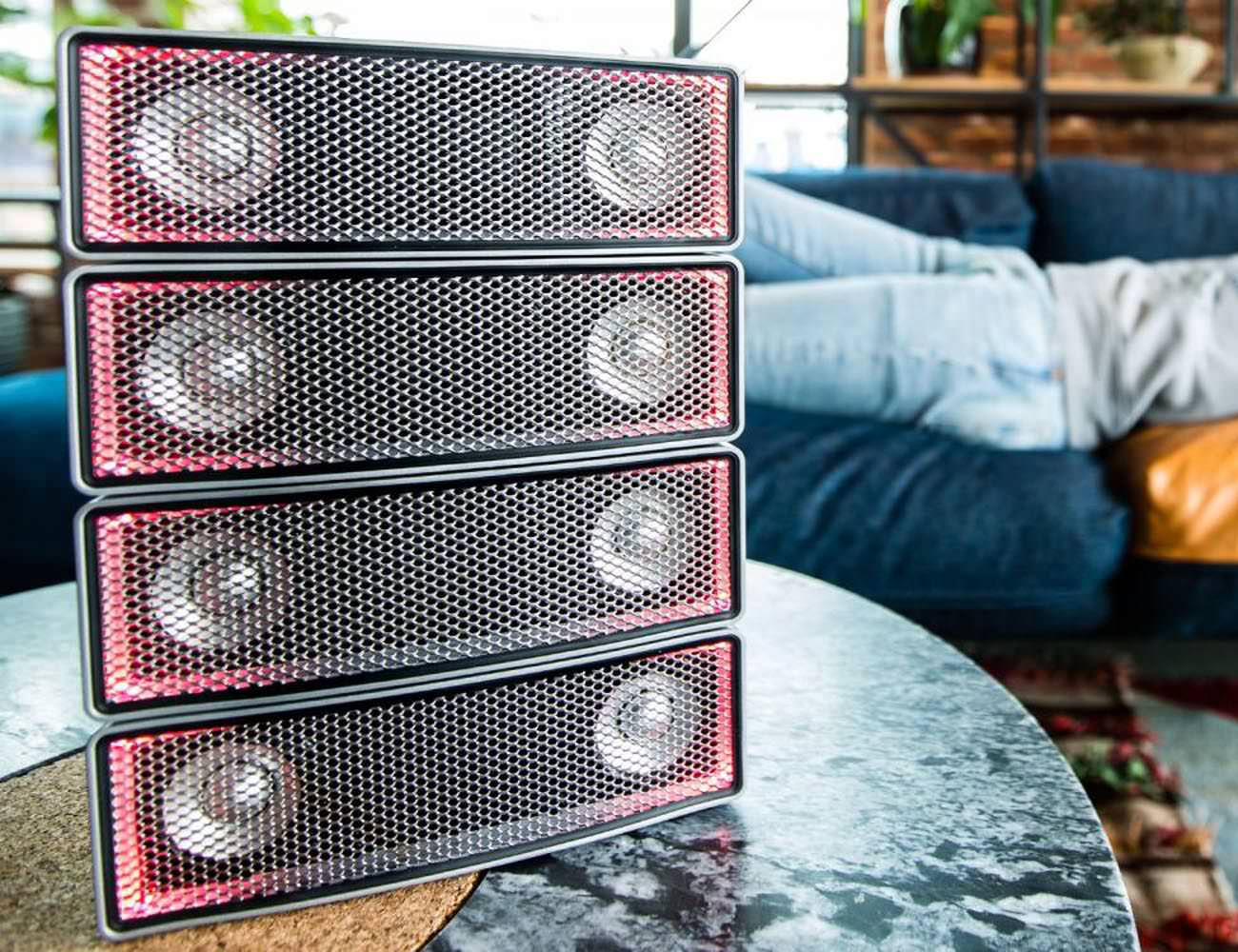 Soundots Stacking Hive Speakers by Sound Dimension
