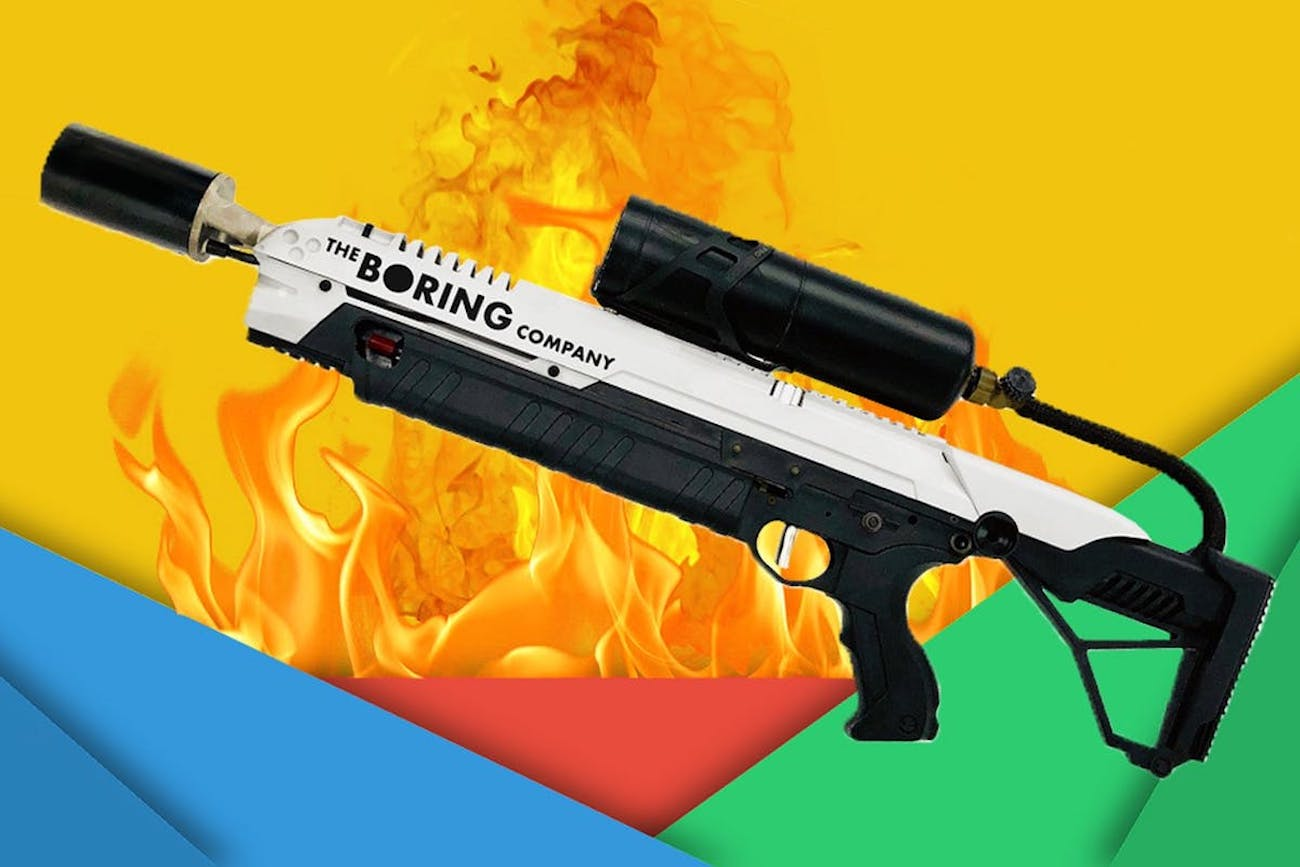 Boring Company Handheld Flamethrower
