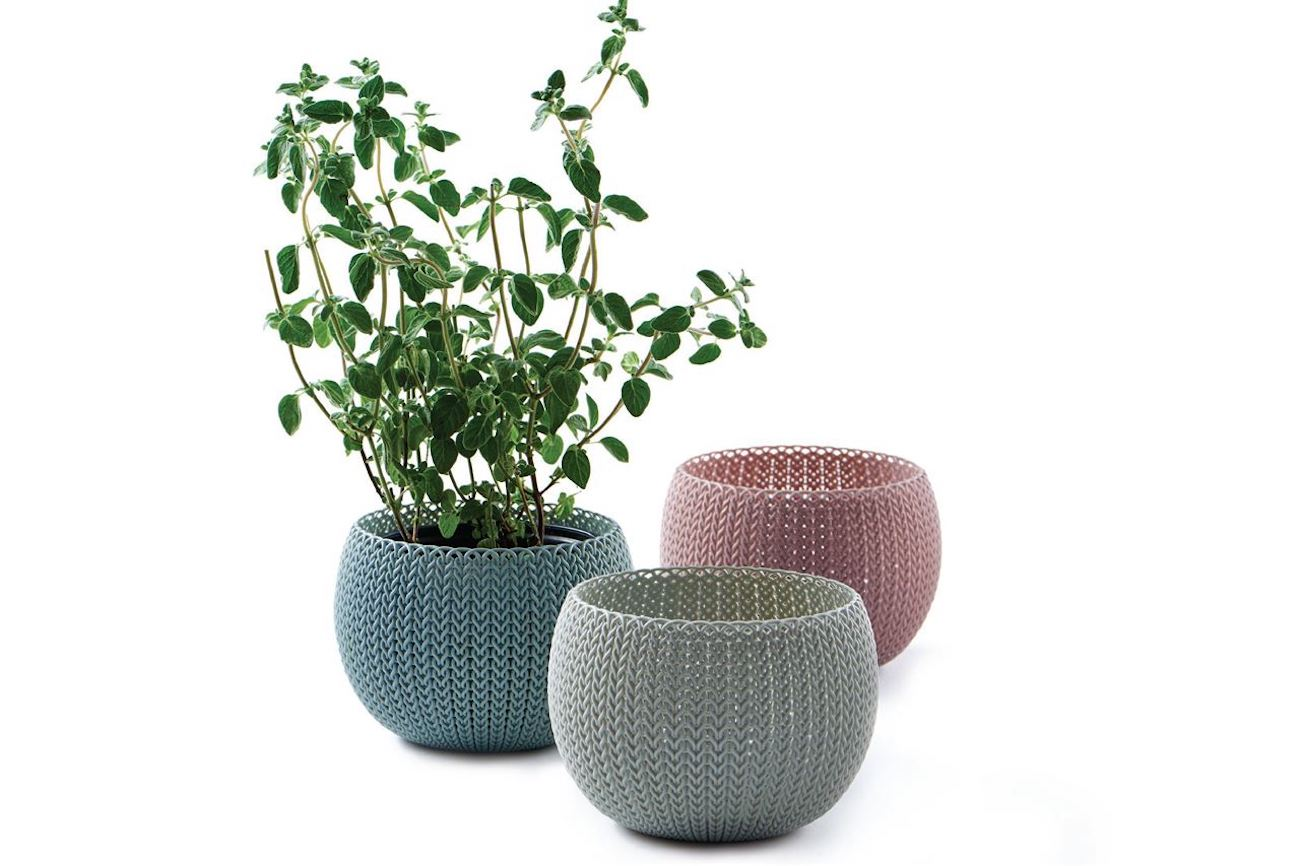 Cozies Trio Knit Style Planters