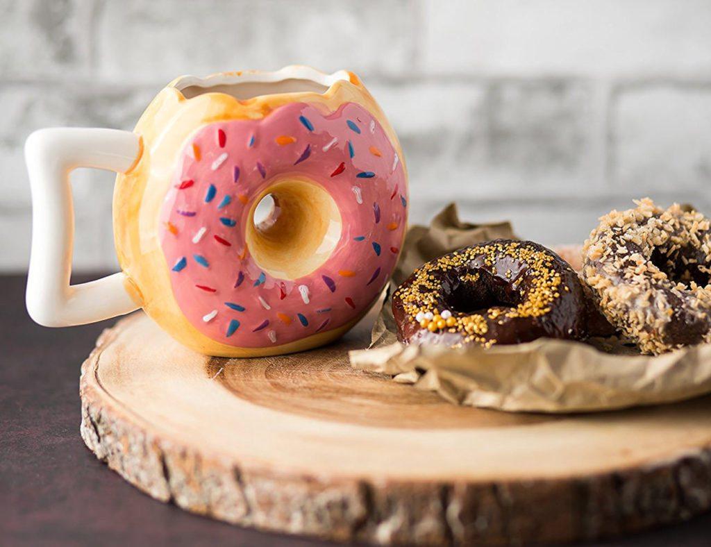 Ceramic+Donut+Style+Coffee+Mug