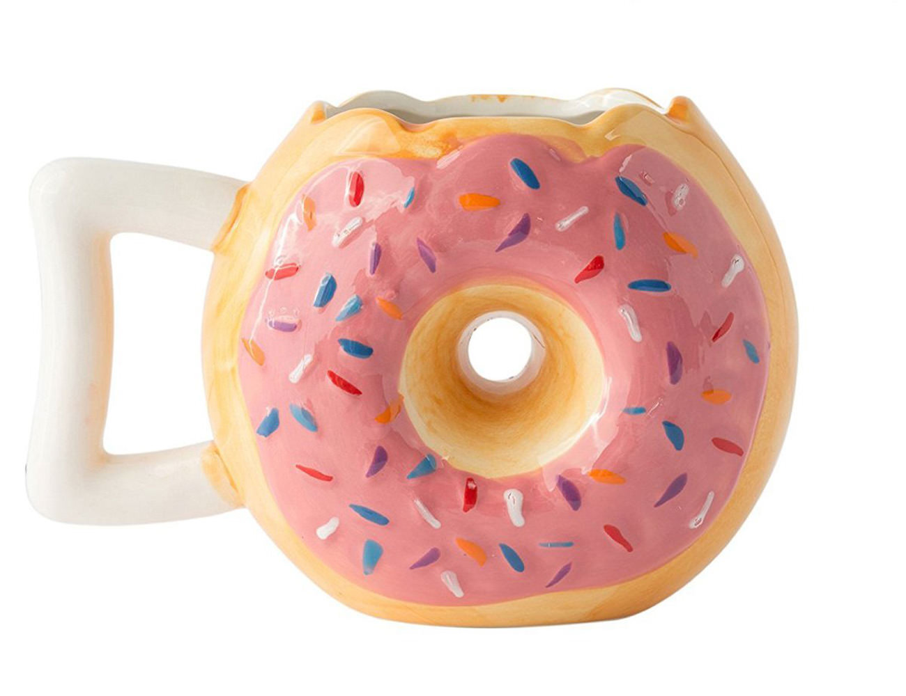Ceramic Donut Style Coffee Mug