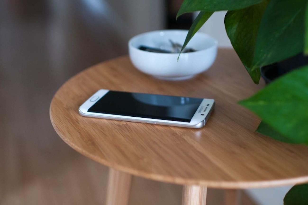 Furniqi Bamboo Qi Wireless Charging Side Table 187 Gadget Flow