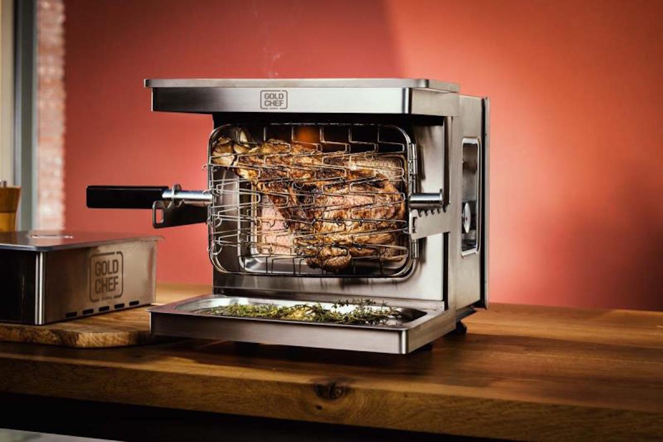 Gold Chef Premium Anti-Flare-Up Vertical Grill
