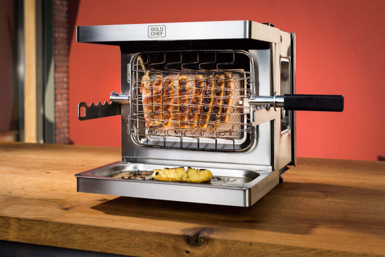 Gold Chef Premium Anti-Flare-Up Vertical Grill
