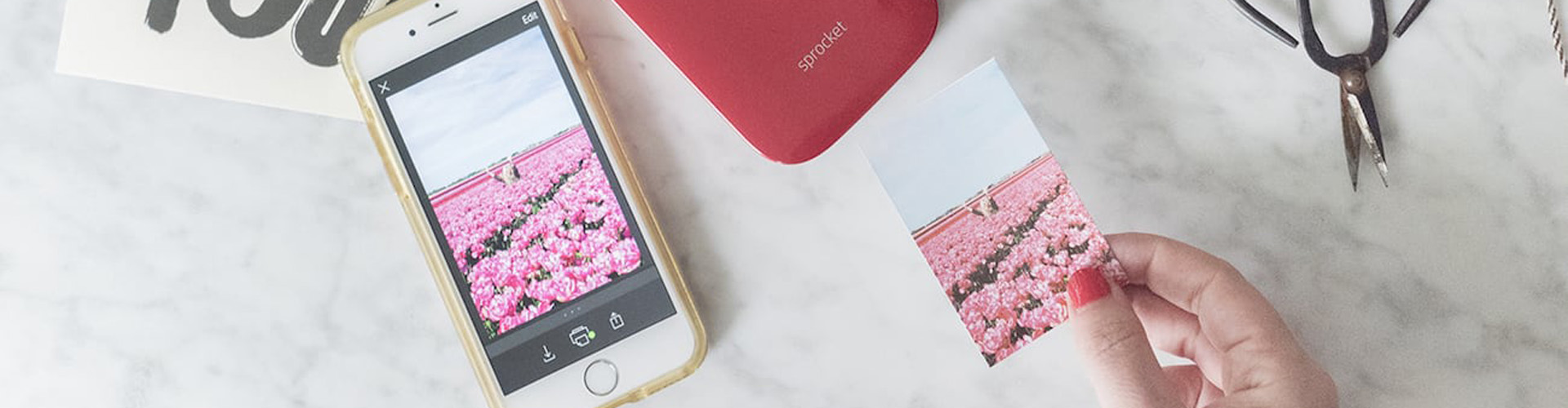 You can print photos on the go with the HP Sprocket