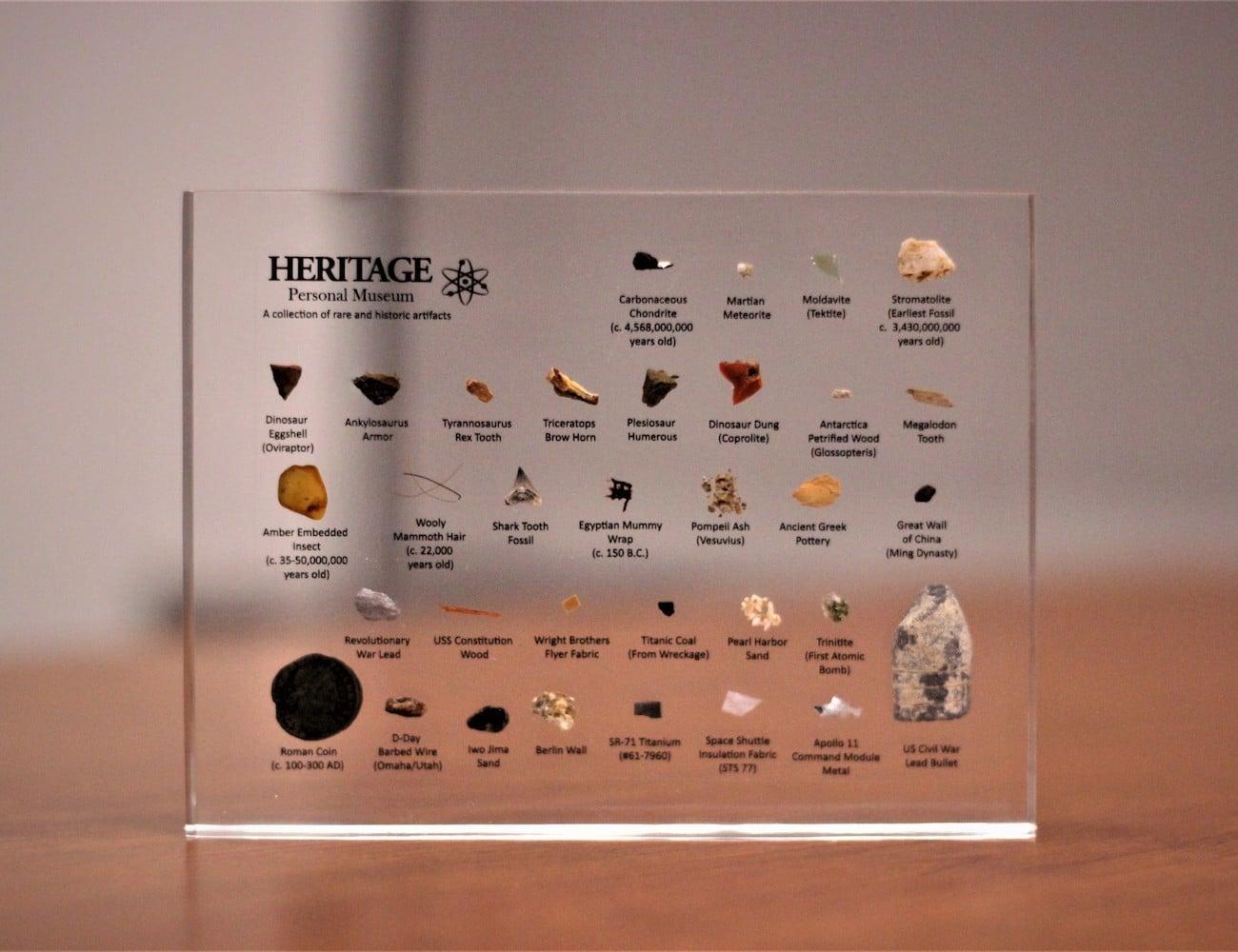 Heritage Personal Artifact Museum