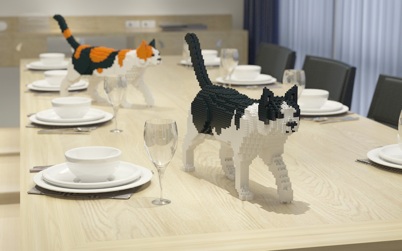 JEKCA Life-Size Cat Sculpture Collection
