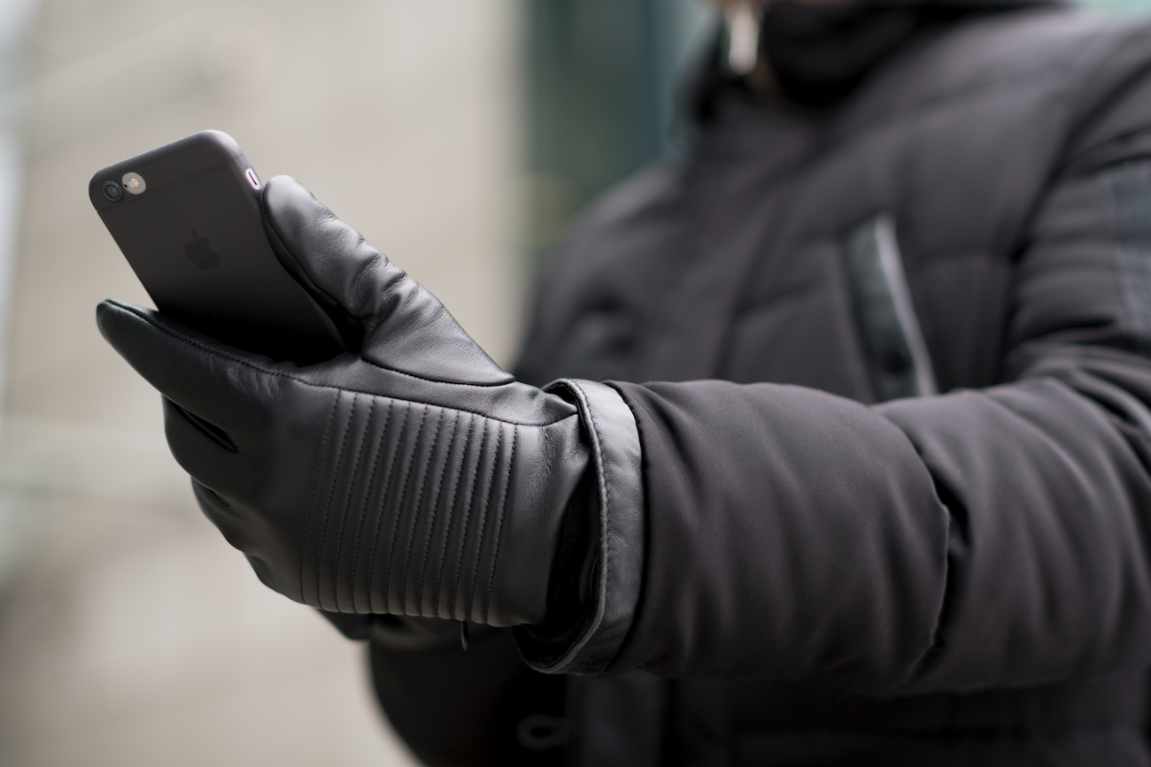 NAPOSPY Smart Leather Gloves