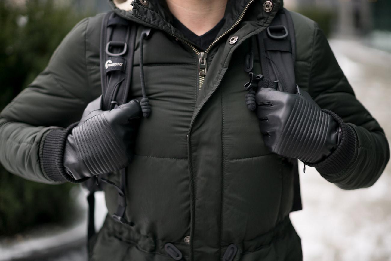 NAPOSPY Smart Leather Gloves