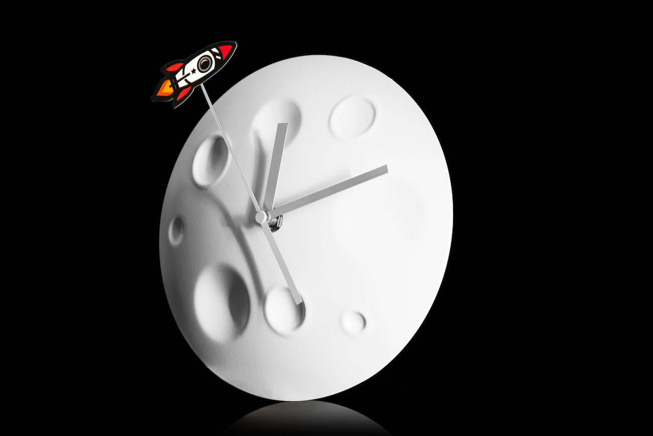 Rocket Moon Wall Clock