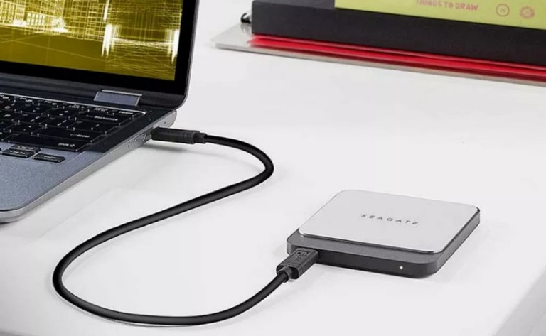 Seagate Fast SSD Compact Portable Hard Drive gives your storage an added boost