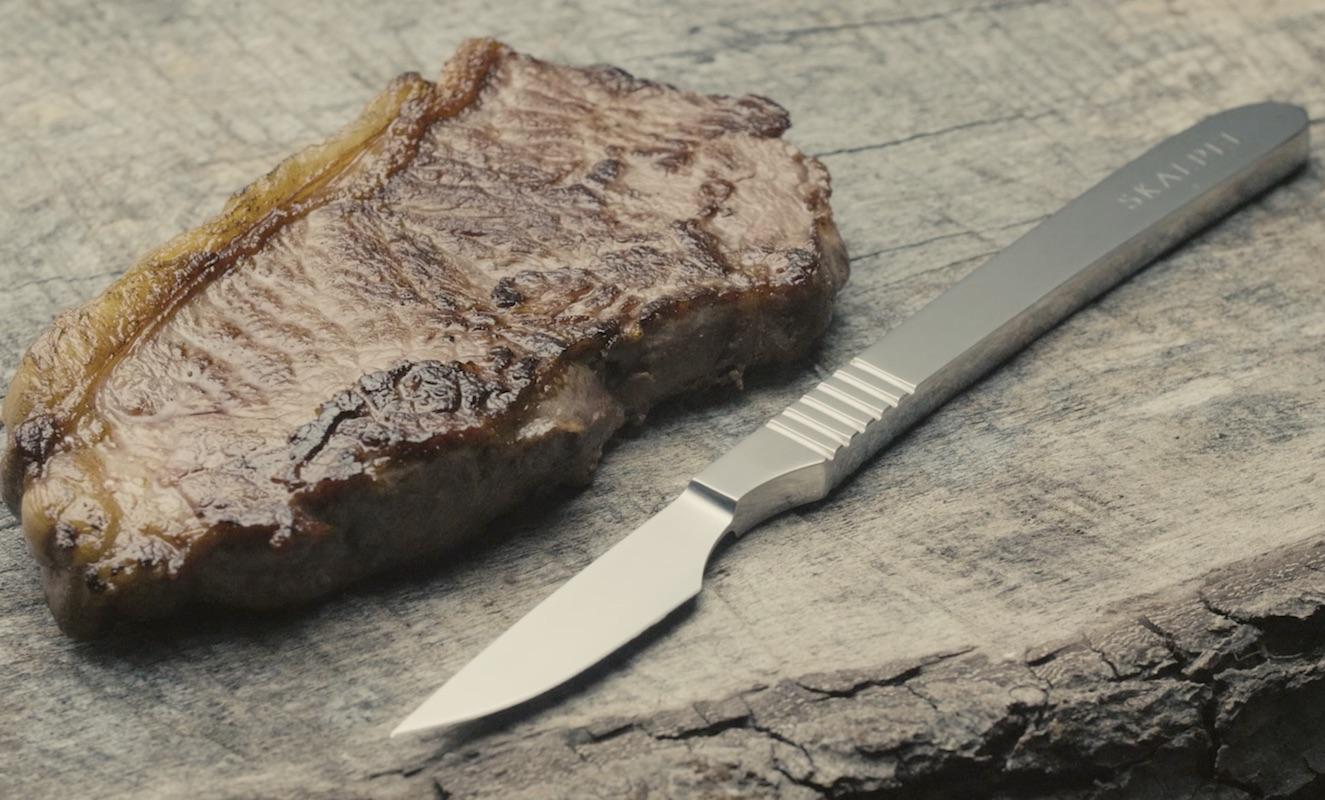 Skalpel+Steel+Steak+Knife