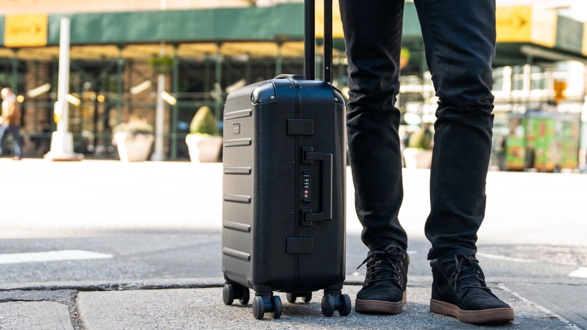 Solgaard Carry-On Closet 2.0 Domestic Premium Suitcase keeps all your clothing organized