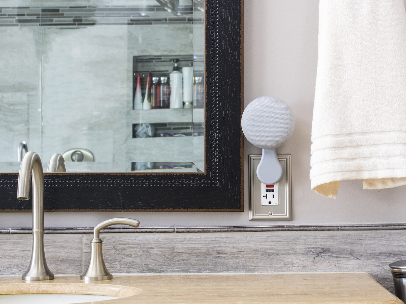 This Mini Google Home Mini Outlet Mount