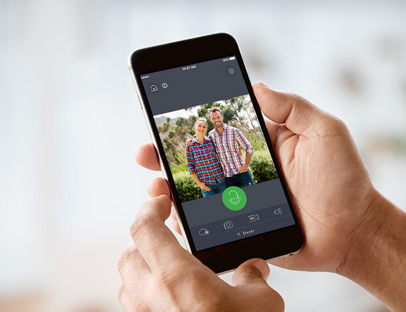 Wisenet SmartCam D1 Facial Recognition Video Doorbell