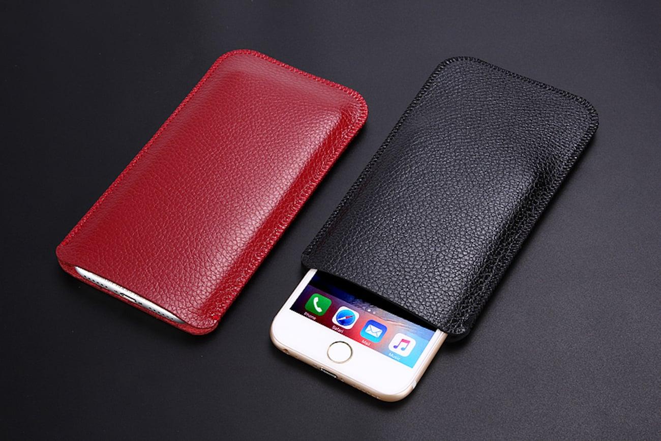 IPhone+X+Leather+Sleeve