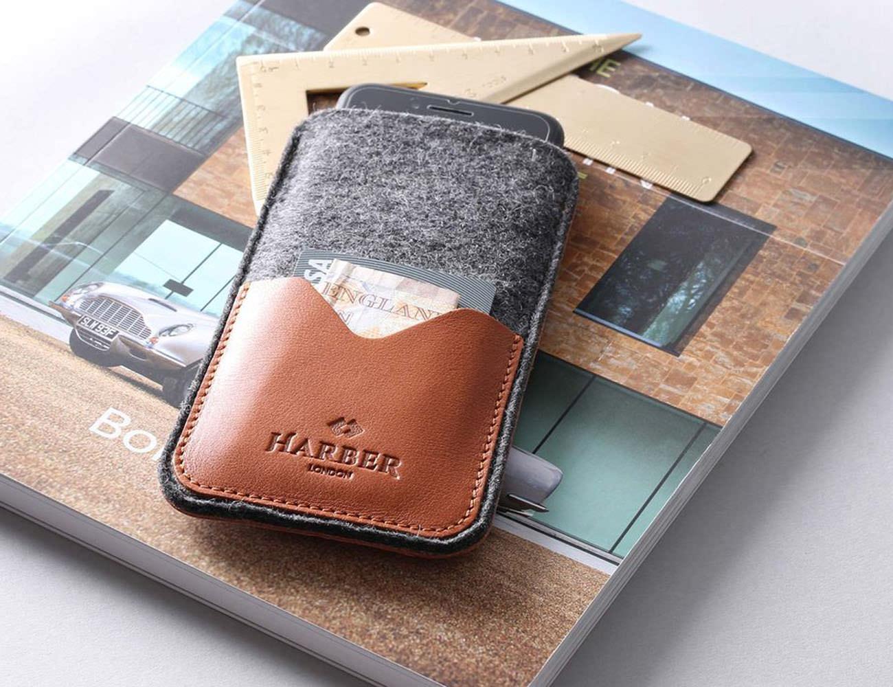 Harber London Leather Smartphone Sleeve Wallet