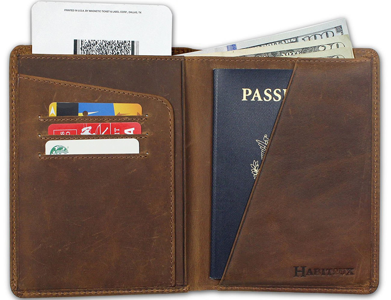 Habitoux RFID Blocking Passport Holder Travel Wallet
