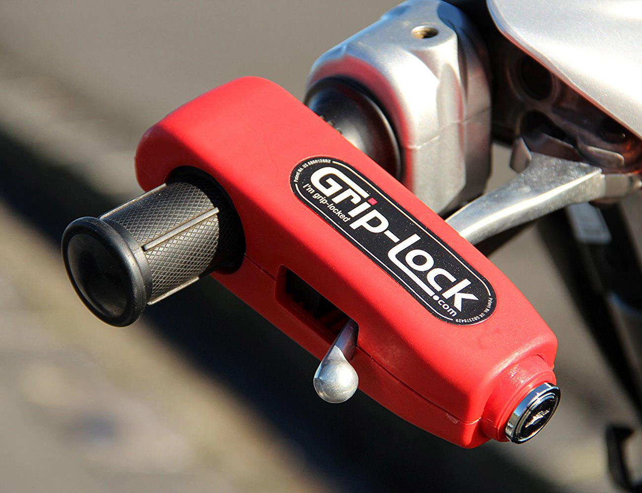 Grip-lock Motorcycle and Scooter Security Lock