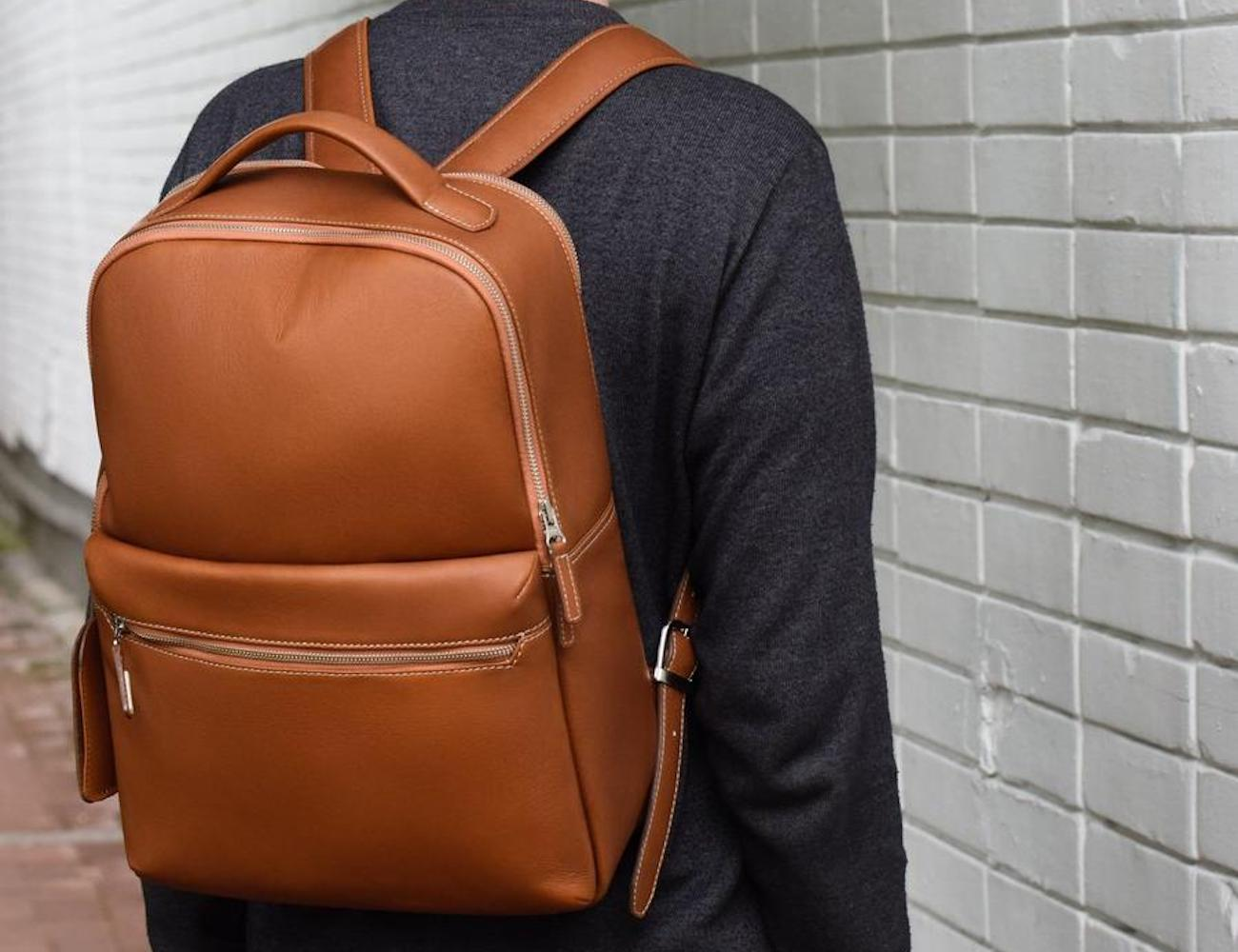 Beckett Simonon Logan Leather Backpack