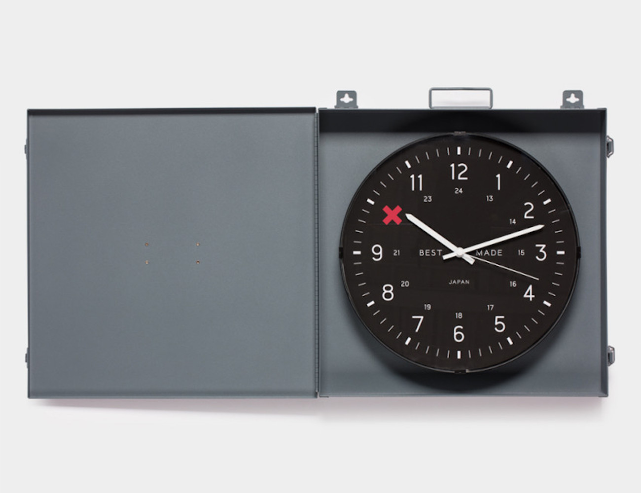 Best Made Company Metal Box Workshop Clock