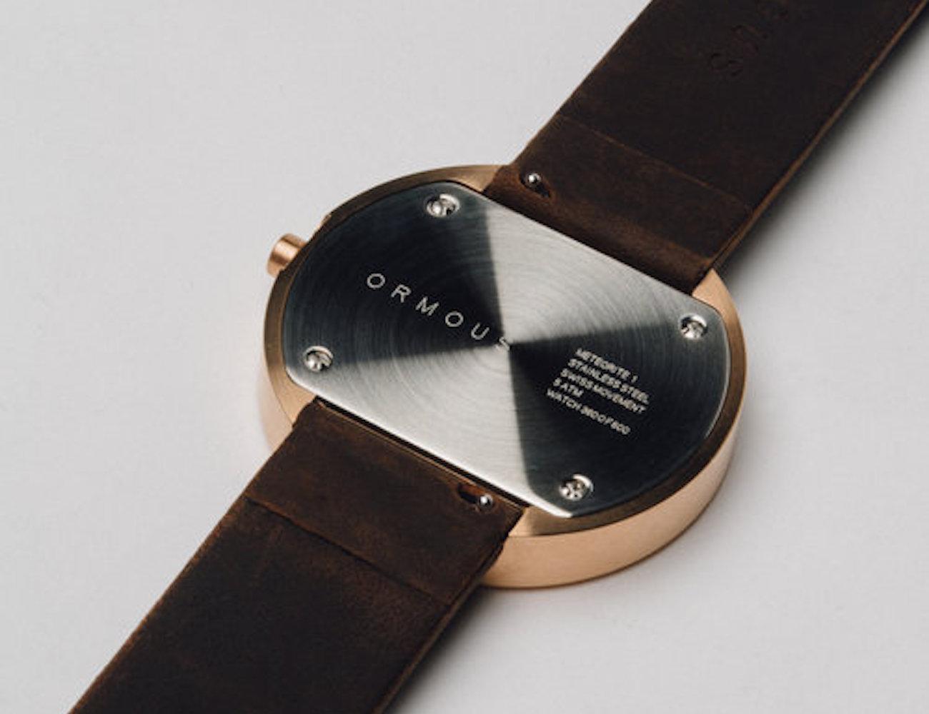HISAKO Stainless Steel and Meteorite Unisex Watch