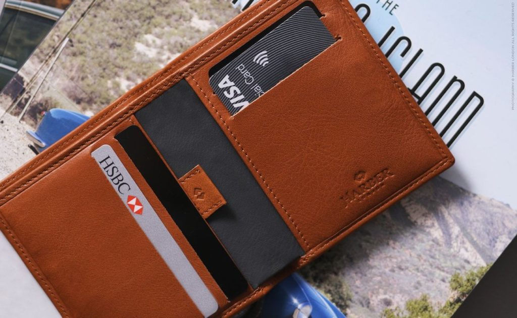 Harber+London+Leather+Bifold+RFID+Blocking+Wallet