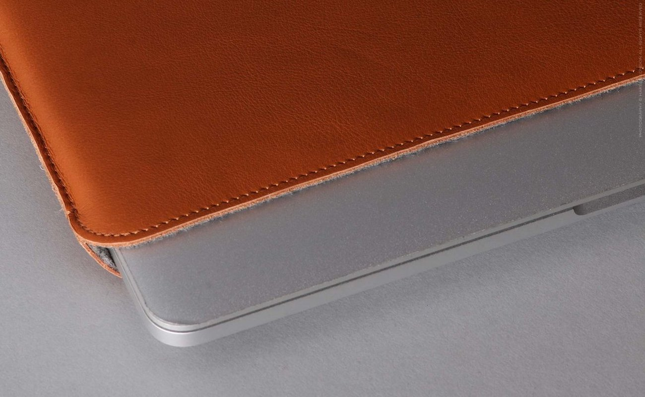 Harber London Slim Leather Macbook Sleeve Case